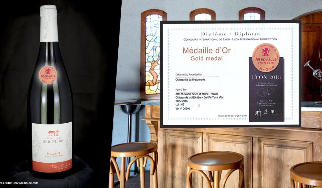 Médaille d'Or pour le Muscadet Sèvre et Maine sur Lie – Château de la Sébinière 2016