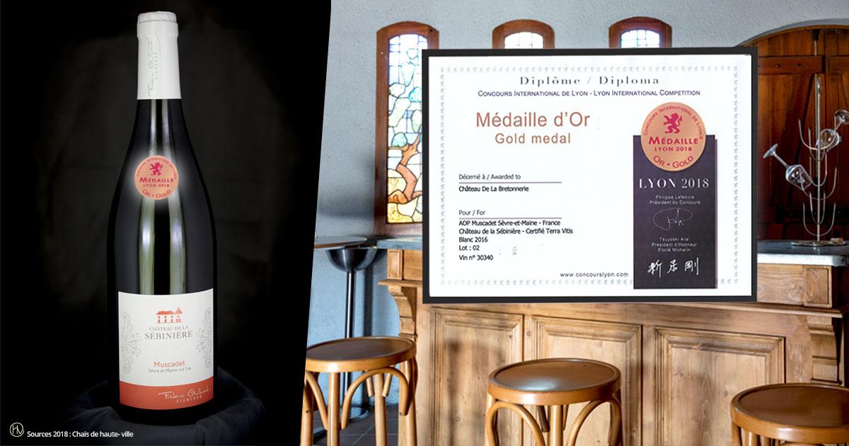 Médaille d'Or au concours international de Lyon